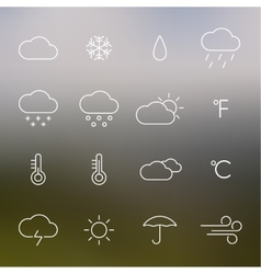 Set weather icons vector
