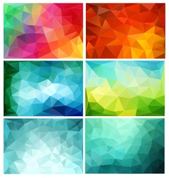 abstract low poly backgrounds set vector image