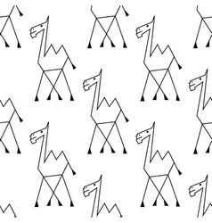 Doodle sketch african camel seamless pattern vector