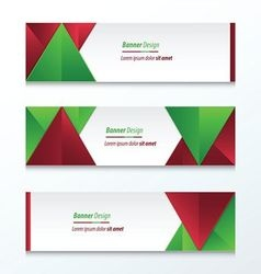 Abstract banner design christmas styles vector