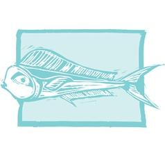 Mahi Mahi Fish vector image