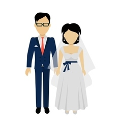Newlyweds couple design banner concept vector