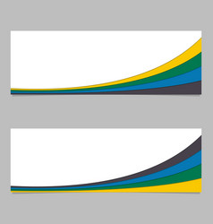 Abstract banner template from curved stripes vector