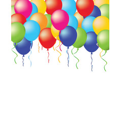 baloons on white background vector image vector image