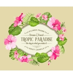 Beautiful tropic card vector image