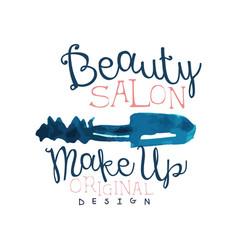 beauty salon logo make up original logo design vector image vector image