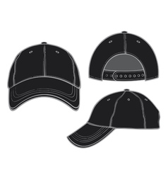 black baseball cap vector image