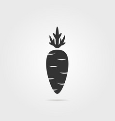 black carrot icon with shadow vector image