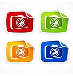 Camera icon colored vector image