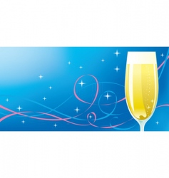 celebration champagne vector image vector image