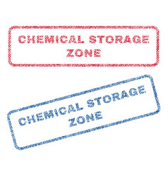 Chemical storage zone textile stamps vector