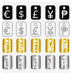 Currency tags vector