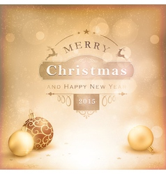 Desaturated golden Christmas background vector image vector image