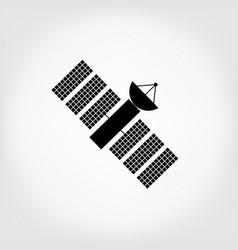 earth satellite icon vector image