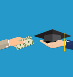 Education for money concept vector
