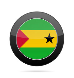 Flag of sao tome and principe black round button vector