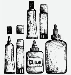 Glue icon set vector