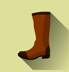 hight boots icon with long shadow on yellow vector image