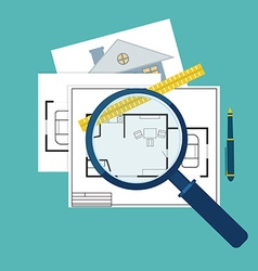 Home inspector icon vector