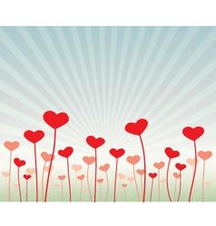 Love flowers vector