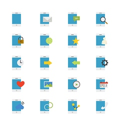 Mobile phone device flat icons color vector
