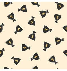 Money bags seamless pattern with dollar sign vector image