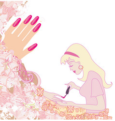 nail salon design poster vector image