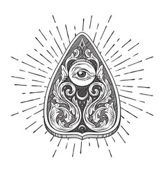 Ouija board mystifying oracle planchette vector