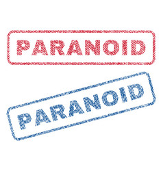 Paranoid textile stamps vector