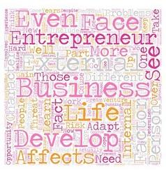 Personal development entrepreneur business 1 text vector