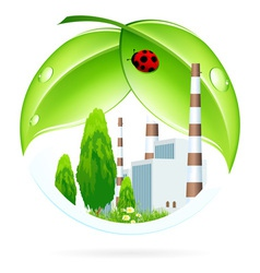 Power plant icon vector