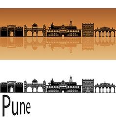Pune skyline in orange vector