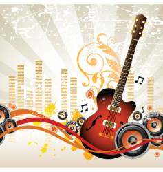 Rock music design vector