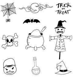 Scry Element Halloween in doodle vector image vector image