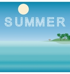 Sea horizon nature landscape summer vector