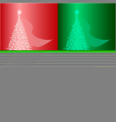 Set with an of a glowing christmas vector