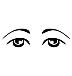 simple sad eyes vector image