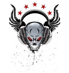 Skull music vector