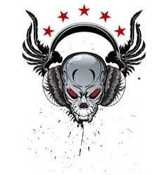 Skull Music vector image
