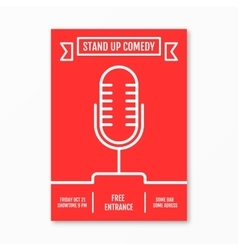stand up Comedy in Night vector image