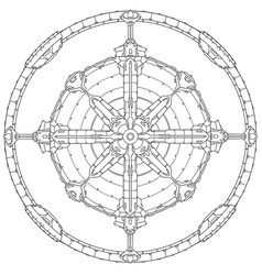 Techno sci-fi mandala vector