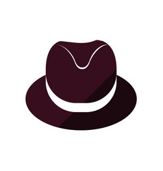 Vintage male hat vector