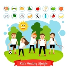 Sport children summer activity vector