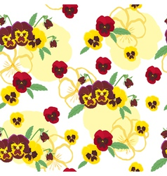 Pansies background vector