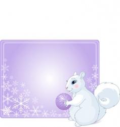 winter greetings vector image
