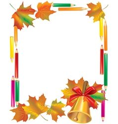 School autumn frame vector