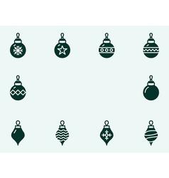 Christmas balls icons vector image