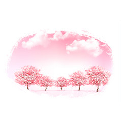 Beautiful spring nature background with trees vector
