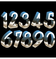 Numbers chrome 3d vector