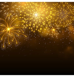 Firework gold vector